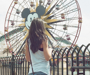 girl, disney, and mickey image