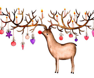 christmas and reindeer image