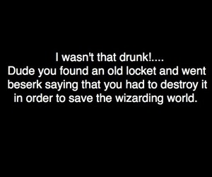 alcohol, drunk, and harry potter image