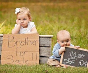 brothers, sisters, and baby image