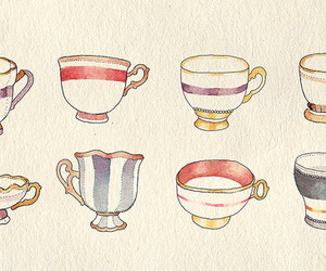 cup, tea, and art image