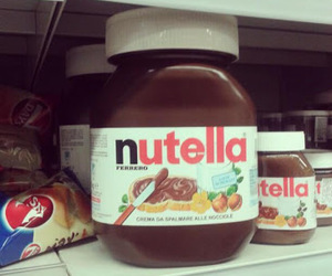 girl, nutella, and yummy image