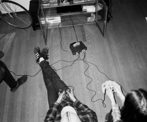 black and white and games image