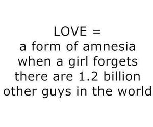 love, amnesia, and text image