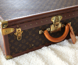 Louis Vuitton, suitcase, and fashion image