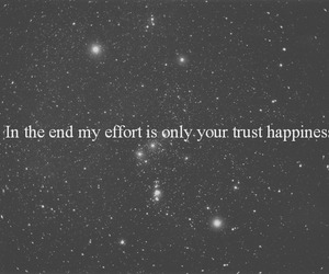 black and white, text, and trust image