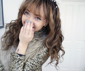 fashion, girl, and laughing image