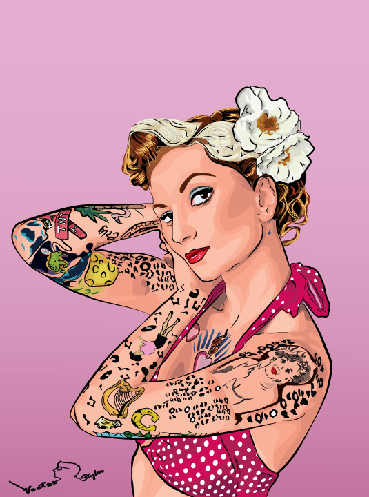 5509f30f4 52 images about Cherry Dollface on We Heart It   See more about Cherry  Dollface, Tattoos and Pin Up