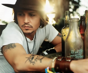 alcohol, jhonny depp, and barba image