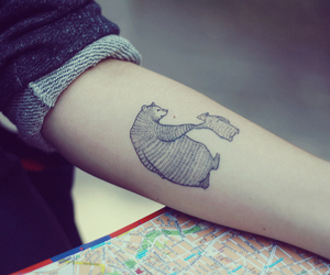 tattoo, bear, and arm image