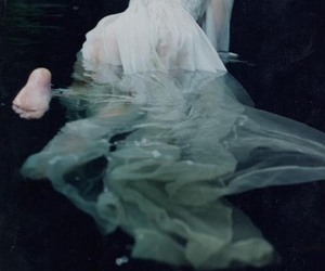 bubbles, white dress, and crawling image