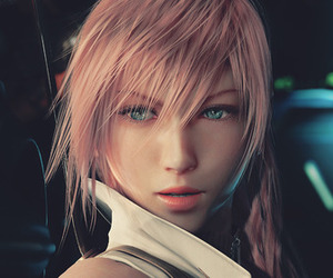 final fantasy, lightning, and game image