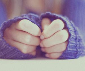 hands, sweater, and photography image