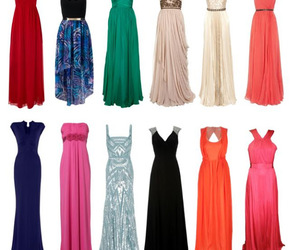black, blue, and dresses image