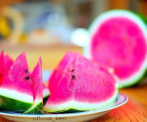 watermelon, pink, and food image