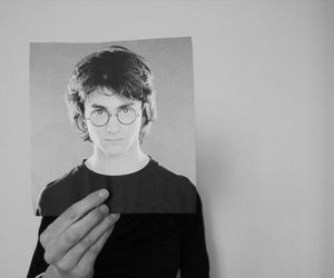 harry potter and black and white image