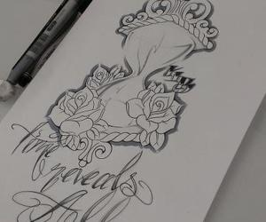 design, tattoo, and time image