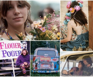 flower power, hippie, and love image