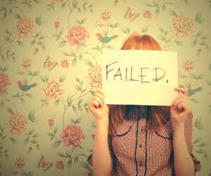 girl, failed, and fail image