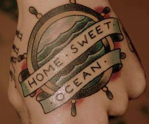 tattoo, ocean, and home image