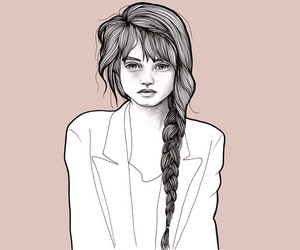 girl, illustration, and abbey lee image