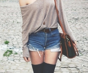 brown, cut offs, and fashion image