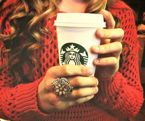 starbucks, fashion, and girl image