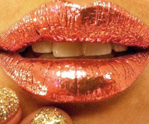 lips, make up, and nails image