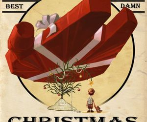 star wars, christmas, and millenium falcon image