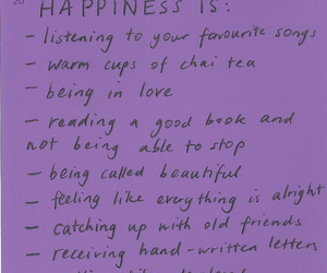 quote, happiness, and tea image