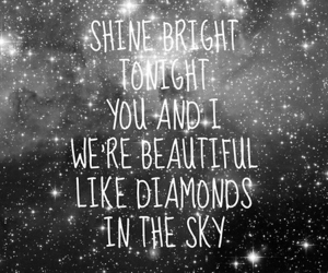 black and white, shine, and sparkle image