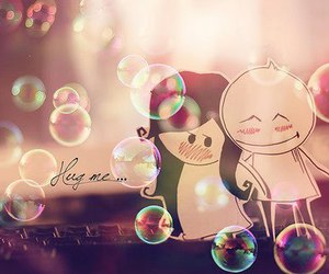 love, hug, and bubbles image