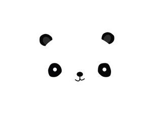 panda, wallpaper, and black image