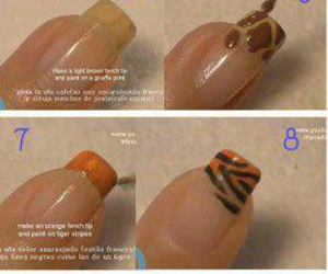 nails, nail art, and animal print image