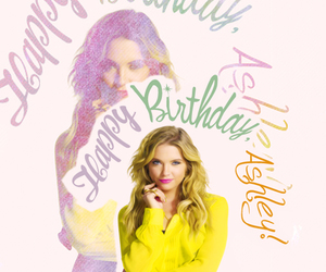 birthday, yellow, and ashley benson image