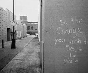 change, black and white, and quote image