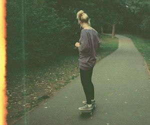 girl, skate, and indie image