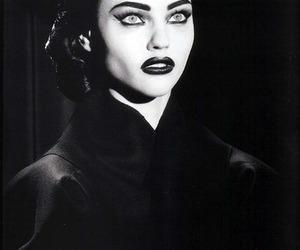 black and white, black, and dark image