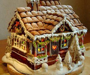 chef, christmas, and gingerbread house image
