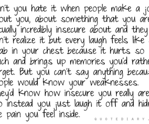 hate, insecure, and text image