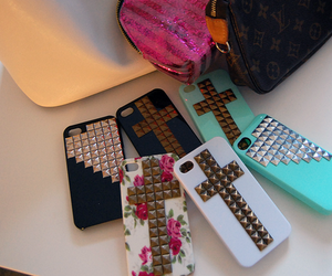iphone, case, and cross image