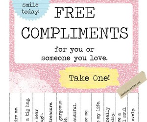 compliments, free, and smile image