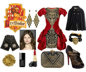 dress, fashion, and gryffindor image