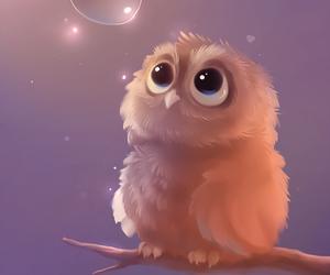 art, cute owl, and apofiss image