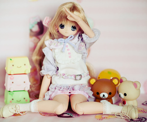 doll and rilakkuma image