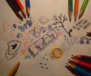 positive, quote, and drawing image