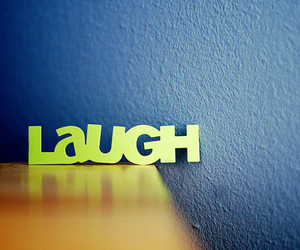 laugh, blue, and quote image