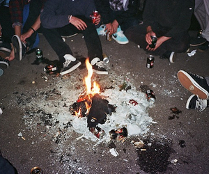 fire, party, and friends image