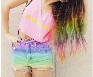 color hair, cool, and girl image