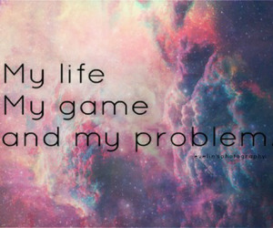 game, life, and problem image